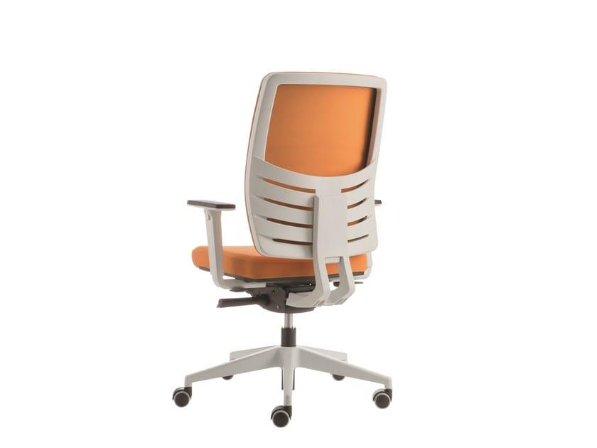 Sedia ufficio operativa a 5 razze con braccioli EM49 | Sedia ufficio operativa con braccioli - Emmegi