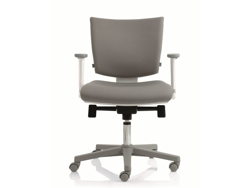 Task chair with 5-Spoke base with armrests EM59 | Task chair with armrests - Emmegi