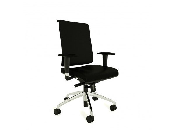 Swivel task chair with 5-Spoke base with casters ZERO7 EVO | Task chair with casters - Ares Line
