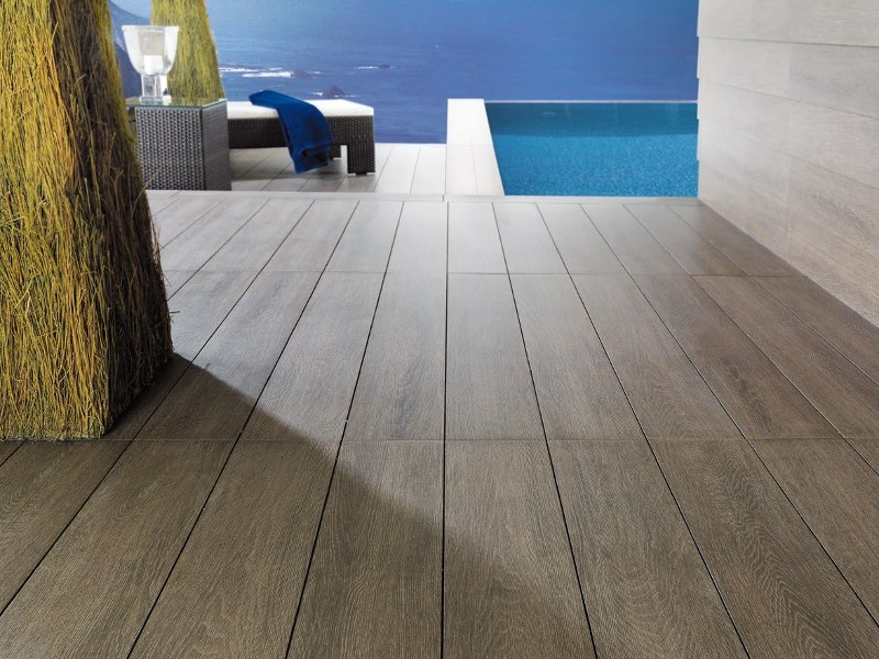 Indoor/outdoor porcelain stoneware flooring with wood effect TAVOLA by Venis