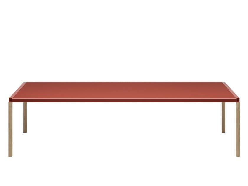 Tavolino rettangolare in pietra acrilica TAVOLO ZERO 800 - Z01 by Alias
