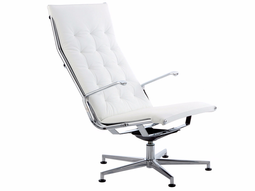Height-adjustable executive chair with 5-spoke base TAYLORD SQUARED | Executive chair - Luxy