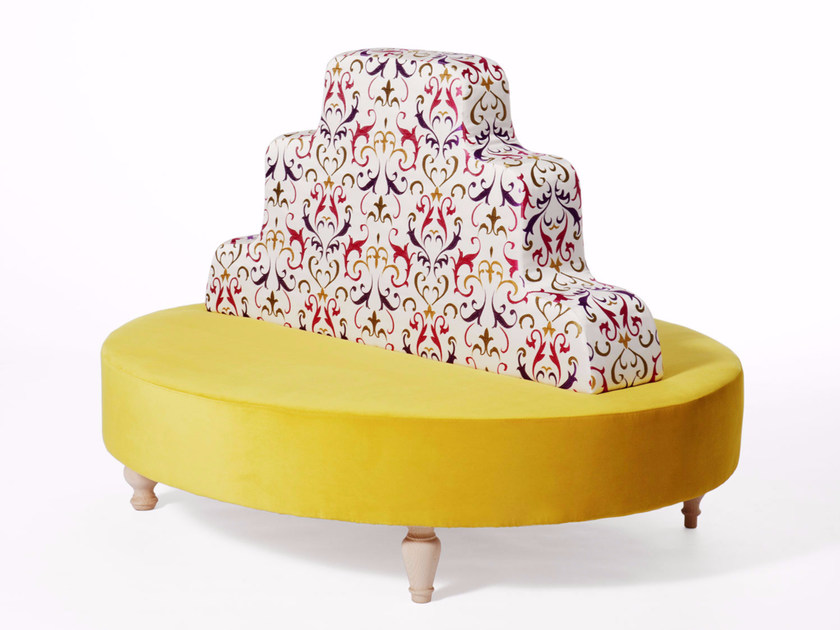 Curved fabric sofa ALICE by Paolo Castelli