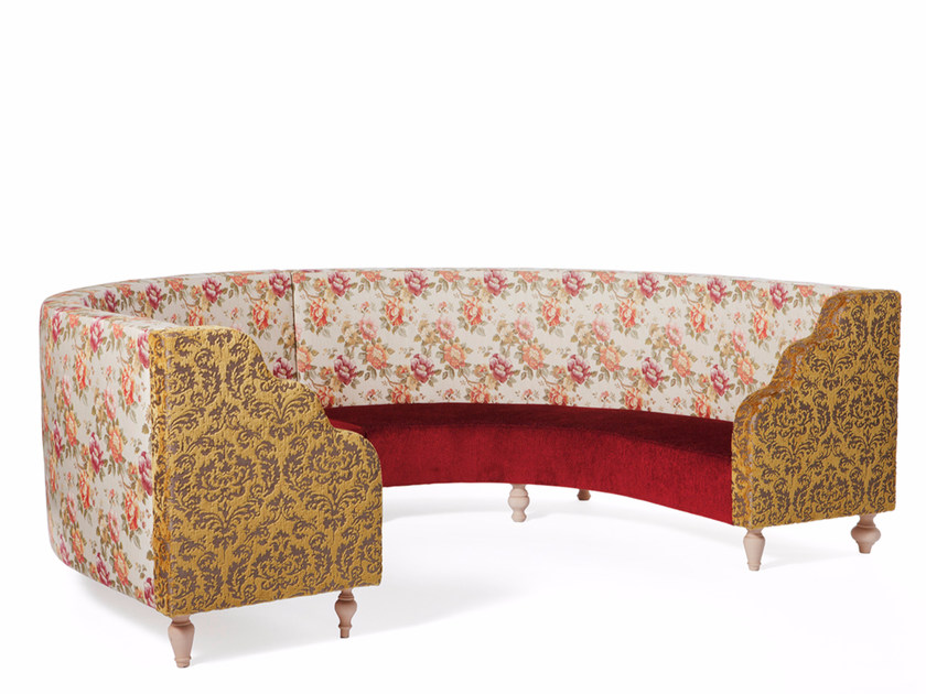 Curved fabric sofa CORDIALE by Paolo Castelli