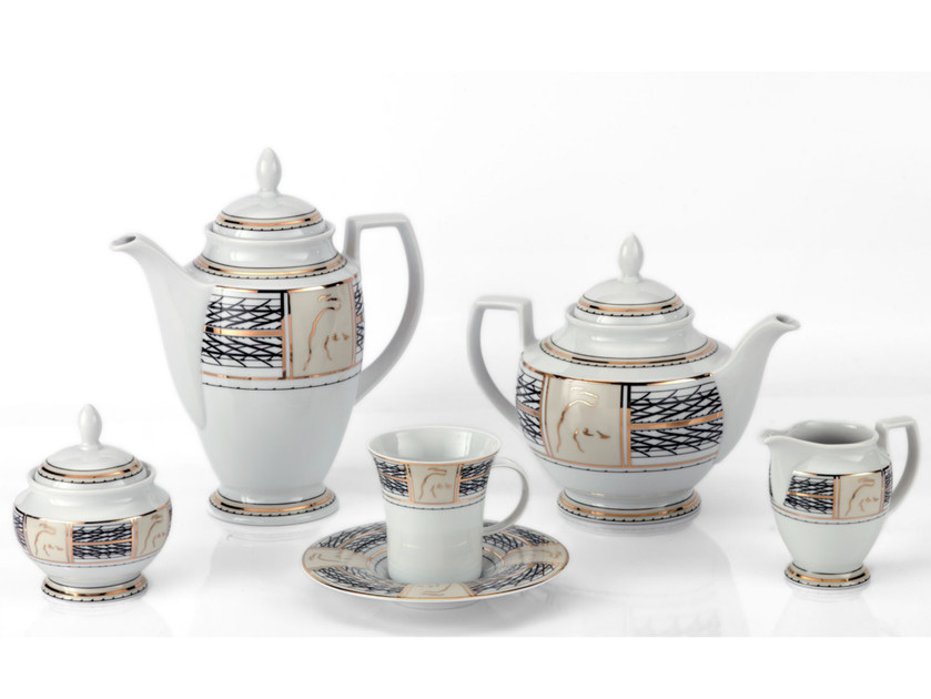 Porcelain coffee set CIRCUIT | Coffee set - Tonino Lamborghini Casa