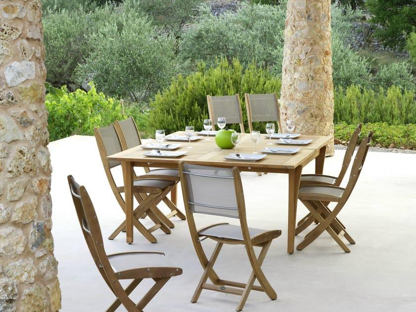 Folding teak garden chair TECK - Les jardins