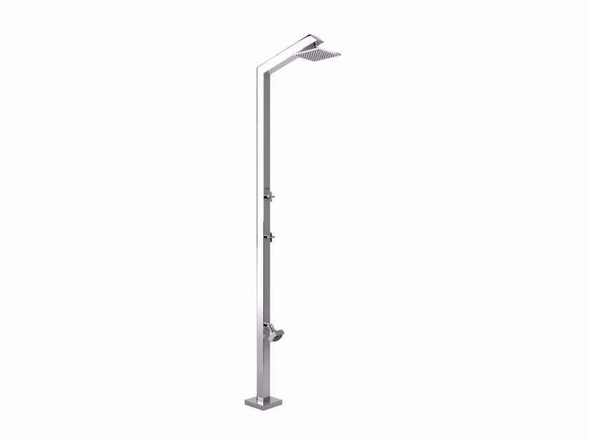 Stainless steel outdoor shower TECNO CUBE L STYLO - Inoxstyle