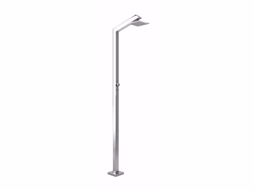 Stainless steel outdoor shower TECNO CUBE M STYLO - Inoxstyle
