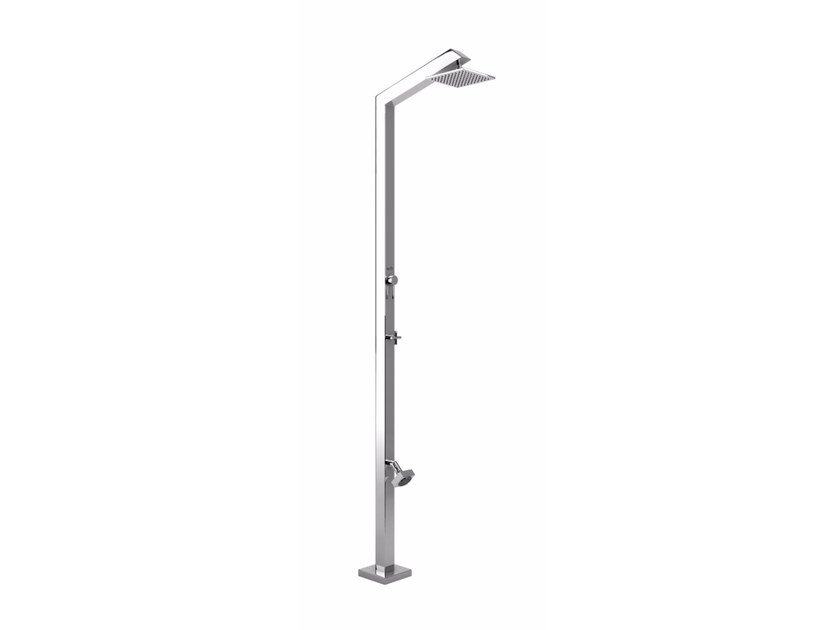 Stainless steel outdoor shower TECNO CUBE ML STYLO by Inoxstyle