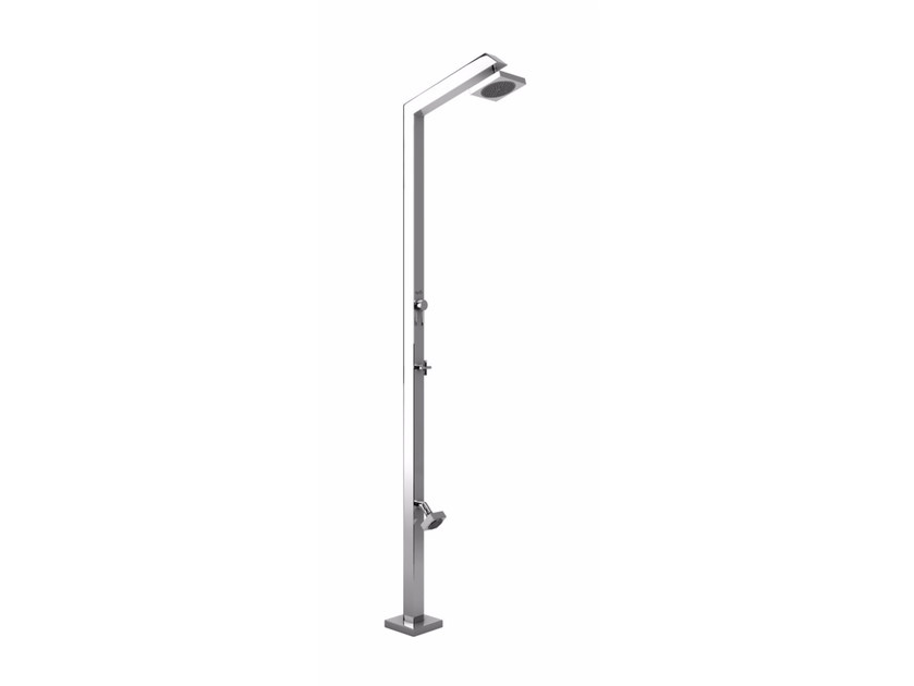 Stainless steel outdoor shower TECNO CUBE ML ZOE - Inoxstyle