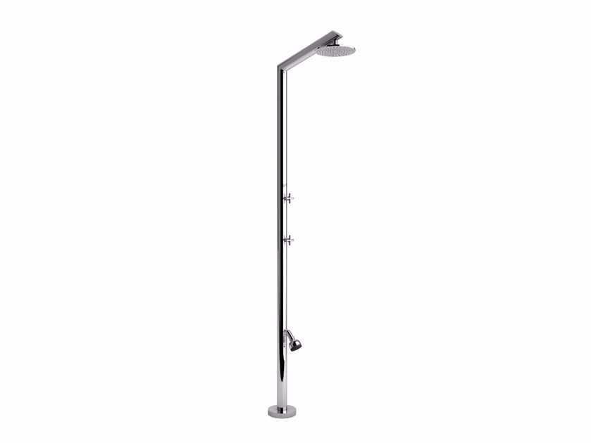 Stainless steel outdoor shower TECNO L BEAUTY - Inoxstyle