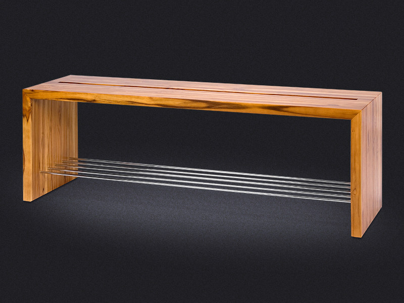 Wooden bench for bathroom TEKA | Bench for bathroom - Vallvé Bathroom Boutique