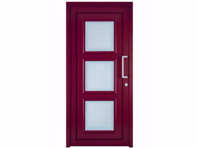 Exterior custom glazed PVC entry door TEKNO TE040 - FOSSATI PVC