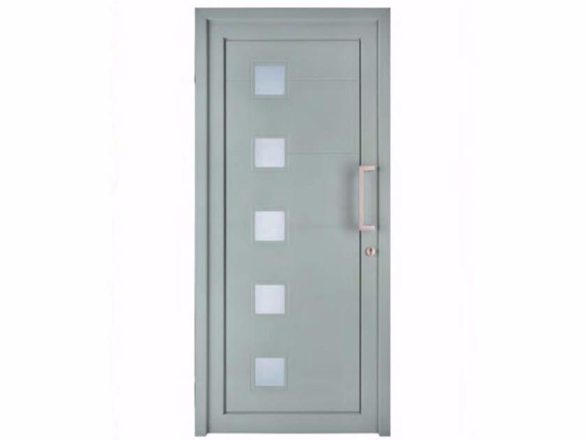 Exterior custom glazed PVC entry door TEKNO TE051 by FOSSATI PVC