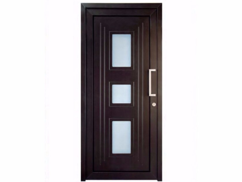 Exterior custom glazed PVC entry door TEKNO TE075 - FOSSATI PVC