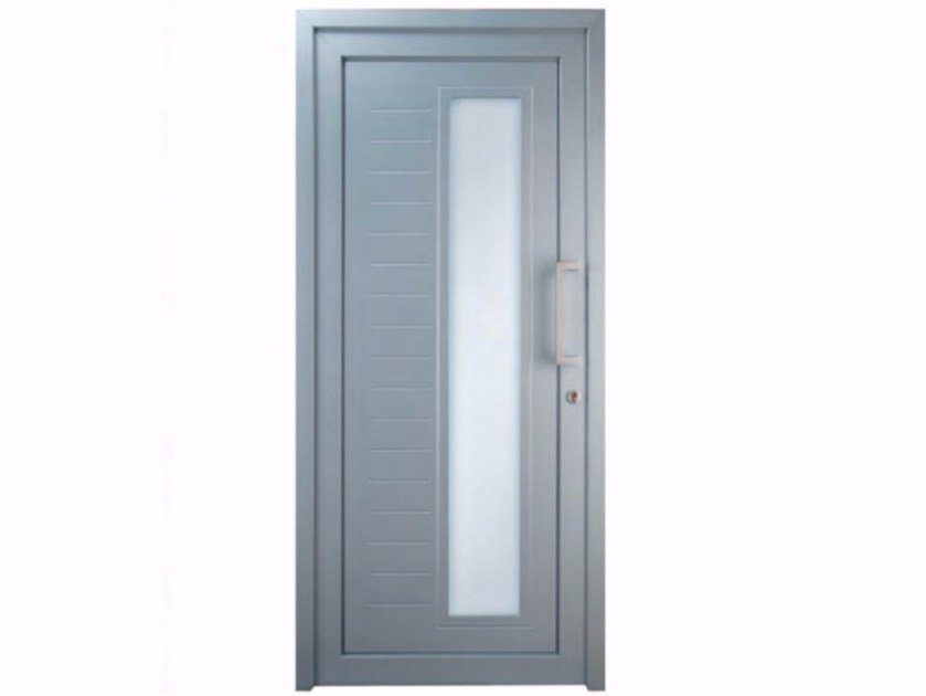 Exterior custom glazed PVC entry door TEKNO TE080 - FOSSATI PVC