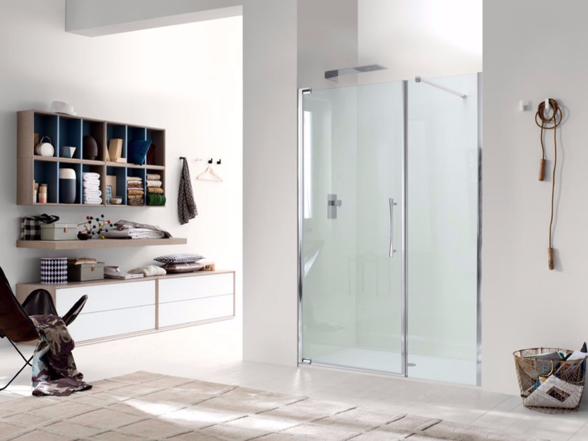 Niche glass shower cabin with hinged door TEKNOAIR - 3 - INDA®