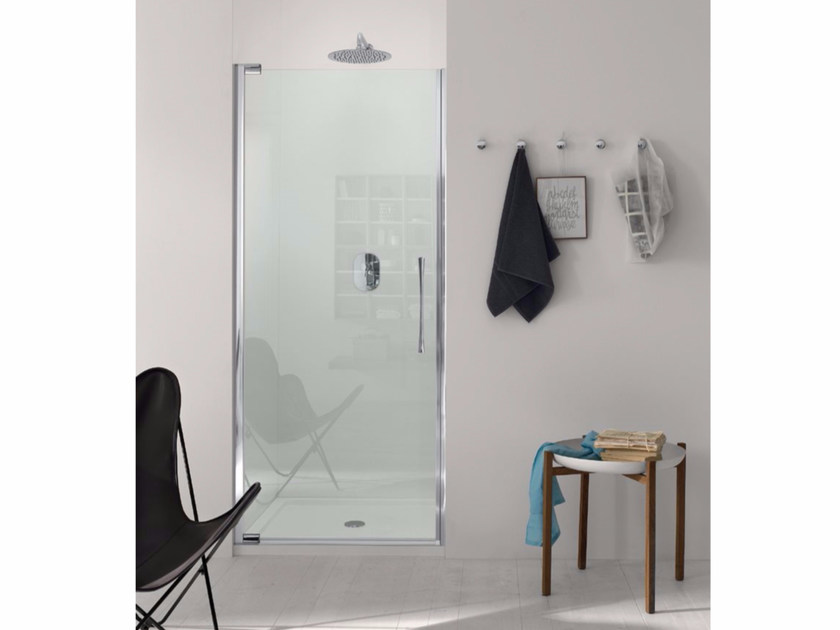 Niche shower cabin with pivot door and fixed element TEKNOAIR - 4 - INDA®