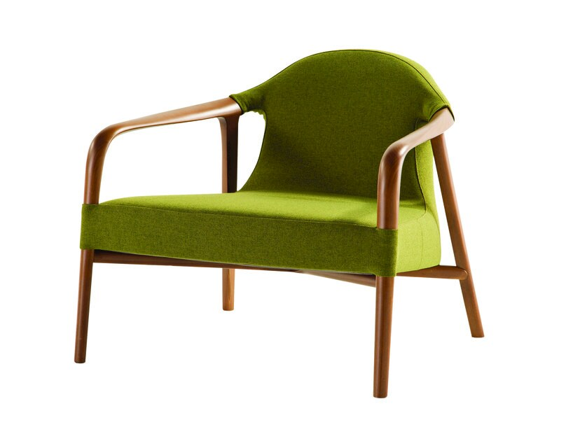 Fabric armchair with armrests TEMPUS - ROCHE BOBOIS