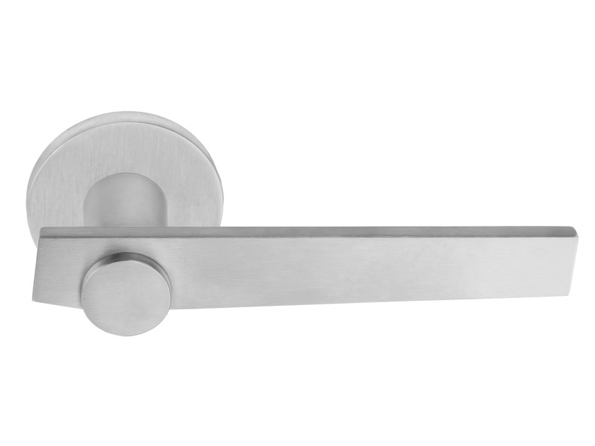 Maniglia in acciaio inox con finitura satinata su rosetta TENSE BB101-G | Maniglia - Formani Holland B.V.