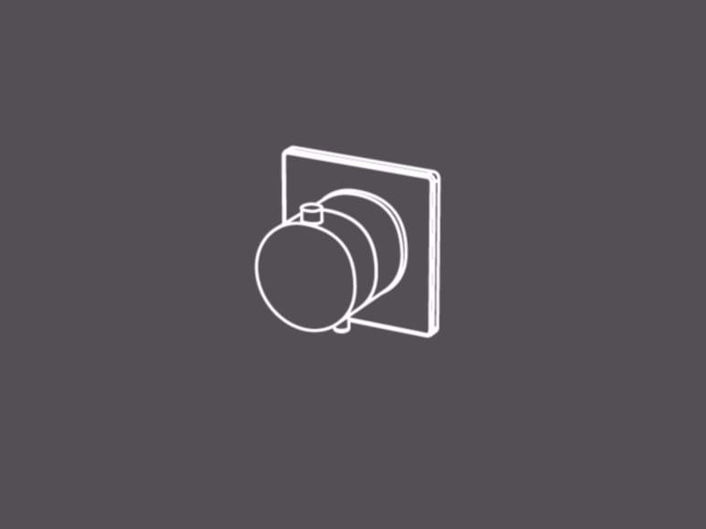 Miscelatore termostatico coassiale con regolatore di portata TER90-O - Radomonte
