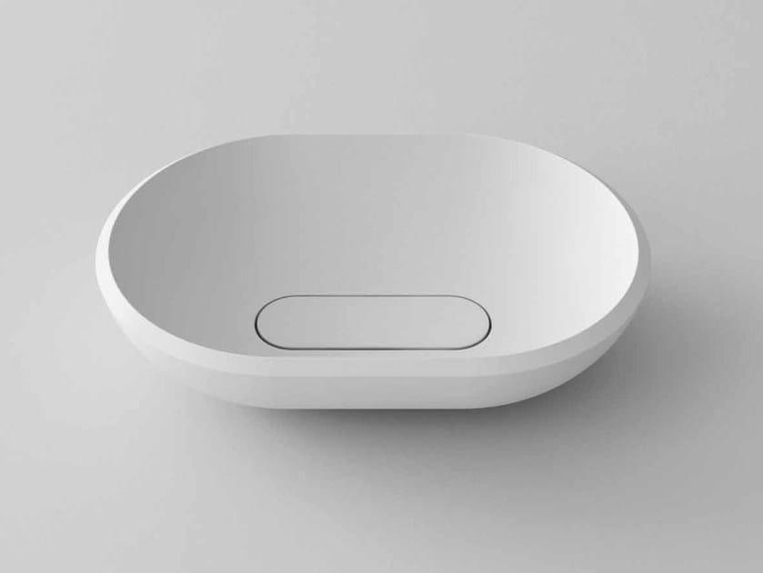 Countertop oval Stonelight washbasin TERRY - Flora Style