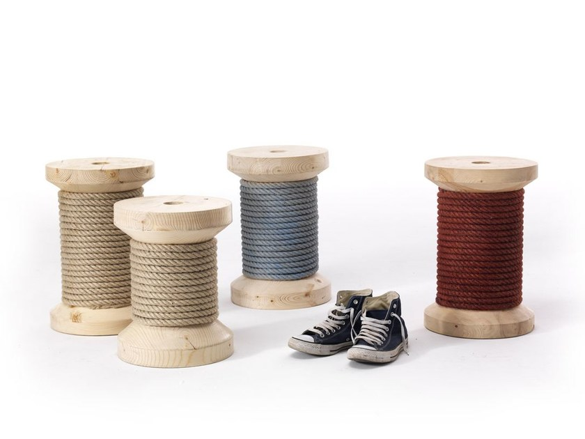 Low rope stool TESEO by Vontree