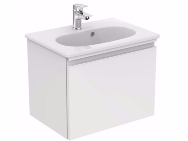 Wall-mounted vanity unit with drawers TESI - T0045 - Ideal Standard Italia