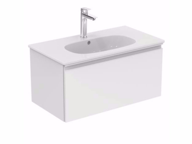 Wall-mounted vanity unit with drawers TESI - T0047 - Ideal Standard Italia