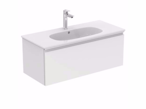 Wall-mounted vanity unit with drawers TESI - T0048 by Ideal Standard