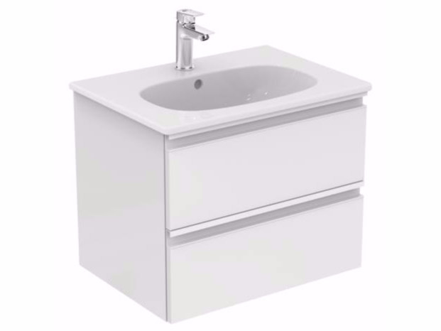 Wall-mounted vanity unit with drawers TESI - T0050 - Ideal Standard Italia