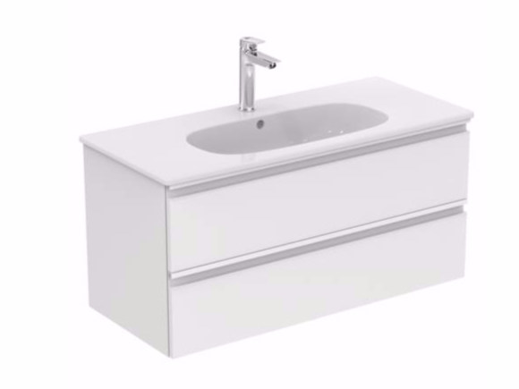 Wall-mounted vanity unit with drawers TESI - T0052 - Ideal Standard Italia