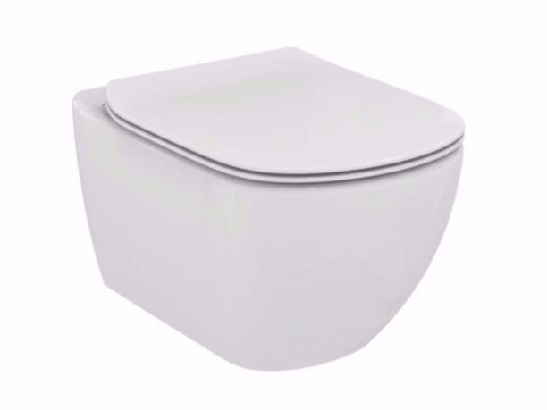 Wall-hung ceramic toilet TESI - T3542 - Ideal Standard Italia
