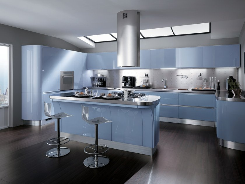 Lacquered fitted kitchen TESS by Scavolini