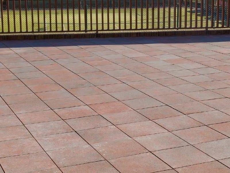Cement outdoor floor tiles TESSERA BICOLOR by SAS Italia