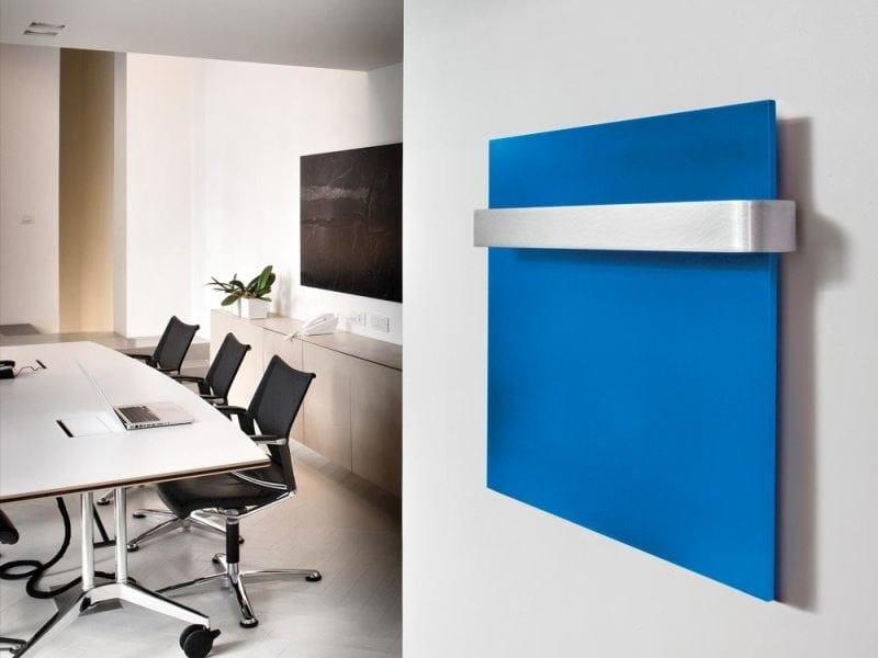 Wall-mounted aluminium towel warmer TETRAGON - RIDEA