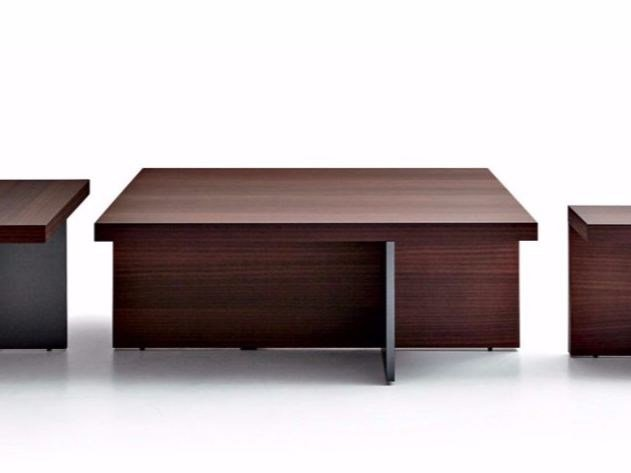 Wooden coffee table TETRIS | Square coffee table by MOLTENI & C.