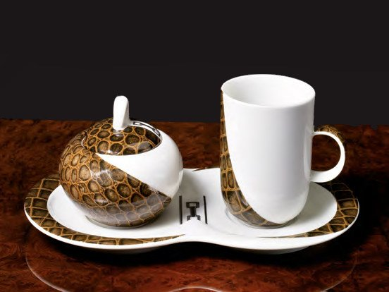 Porcelain cup / sugar bowl TEXAS | Cup with sugar bowl - Formitalia Group