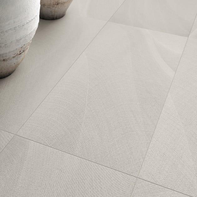 Pavimento/rivestimento in gres porcellanato TEXTURE BIANCO ...