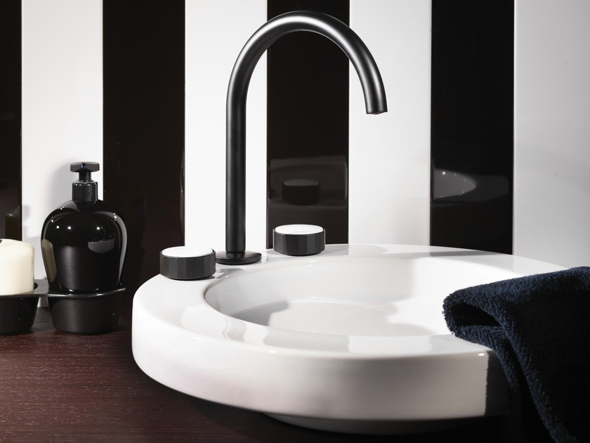 3 hole washbasin tap with brushed finishing TEXTURE | Washbasin tap with brushed finishing by FIMA Carlo Frattini