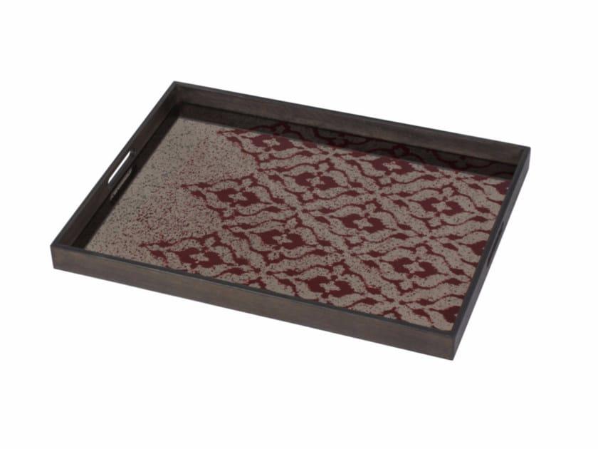 Rectangular tray BURGUNDY IKAT | Rectangular tray - Notre Monde