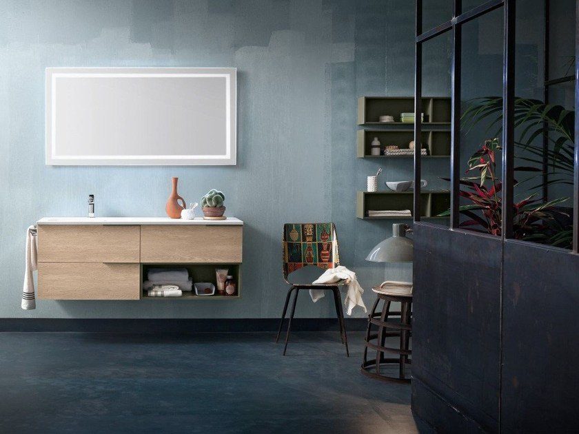 Wall-mounted vanity unit THAI COMPOSITION 4 - RAB Arredobagno