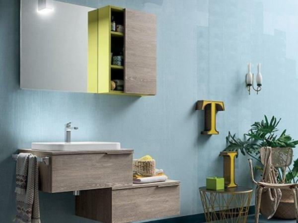 Wall-mounted vanity unit THAI COMPOSITION 12 - RAB Arredobagno