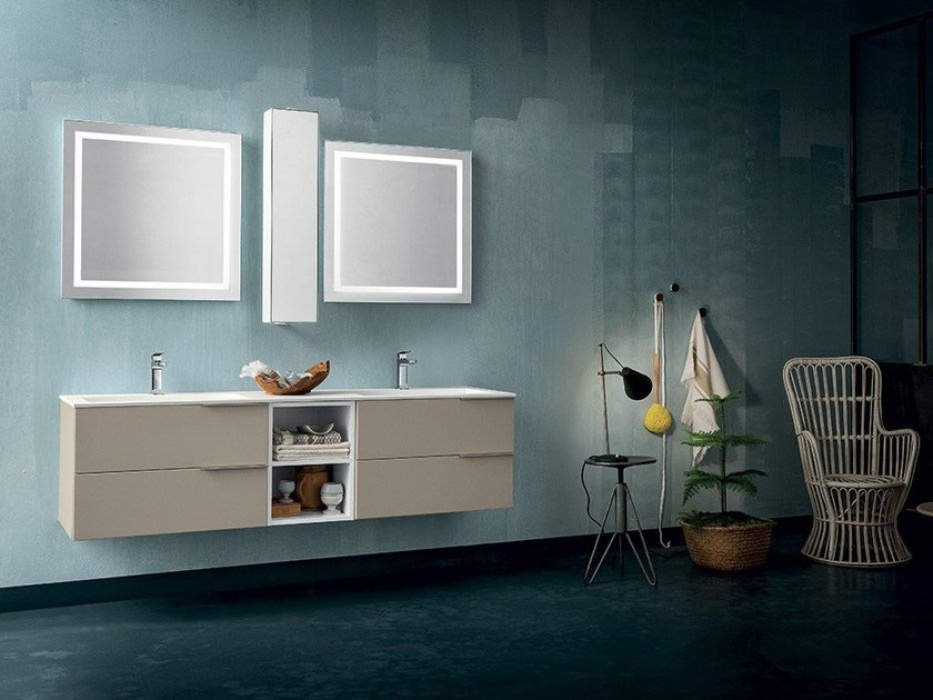 Wall-mounted vanity unit THAI COMPOSITION 14 - RAB Arredobagno
