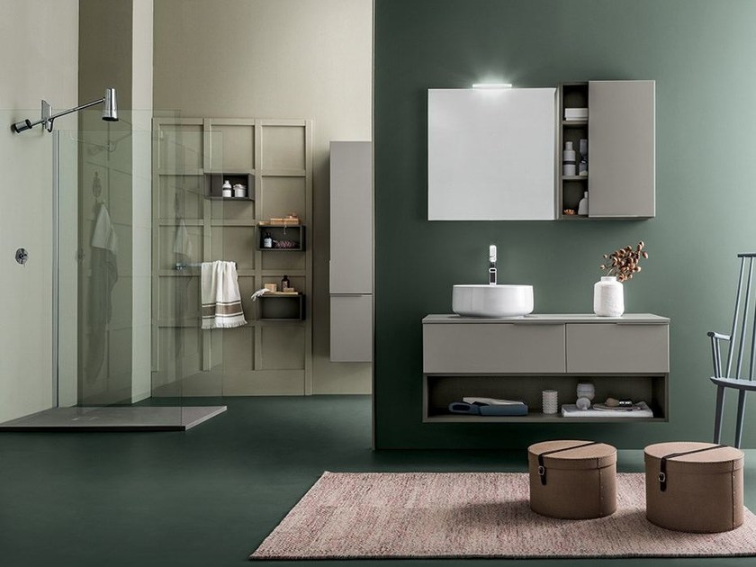 Bathroom furniture set THAI COMPOSITION 9 - RAB Arredobagno
