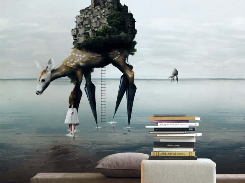 Artistic wallpaper THE MIGRATION - Inkiostro Bianco