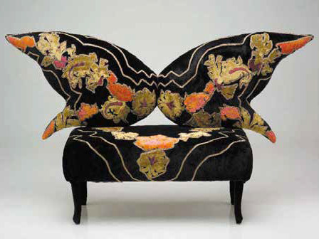 Fabric small sofa THE SMALL BUTTERFLY by Mirabili