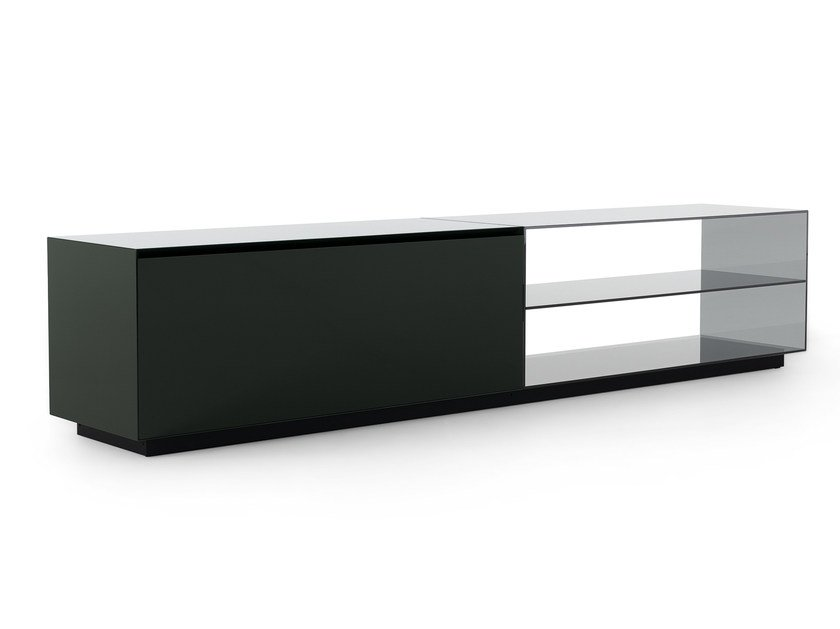 Wooden sideboard with drawers THECA CINEMA - Poliform