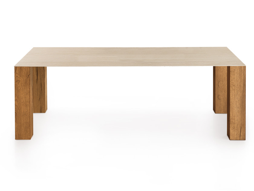 Rectangular oak table THIN WILD | Table - Oliver B.