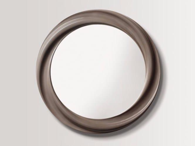 Round wall-mounted framed mirror THYME - BATH&BATH